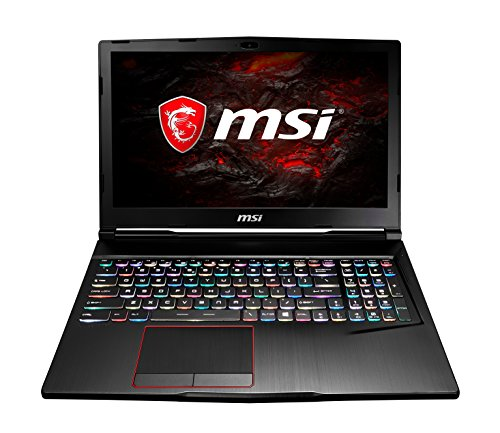 MSI GE63VR 7RE Raider 045UK 15.6-Inch FHD Gaming Laptop - (Black) (Intel Core i7-7700HQ 2.8 GHz, 16 GB RAM, 256 GB SSD Plus 1 TB HDD, GeForce GTX 1060, Windows 10 Home)
