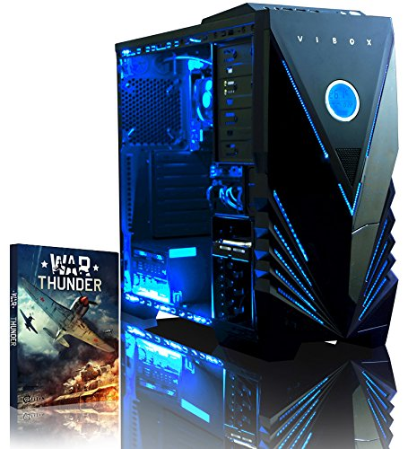 Vibox Ultra 11A Gaming PC - with Warthunder Game Bundle (3.1GHz AMD A8 Quad Core Processor, Radeon R7 Graphics Chip, 1TB Hard Drive, 8GB RAM, Vibox Tactician Blue LED Case, No Operating System)