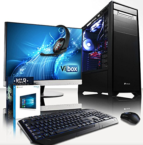 VIBOX Gaming PC - Limitless Package 6 - 4.5GHz Intel i7 Eight-Core CPU, GTX 1080 GPU, VR Ready, Water Cooled, Desktop Computer with Game Bundle, 27