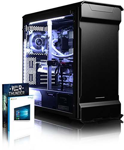 VIBOX Gaming PC - Luminos GXR780-76 - 4.0GHz i7 10-Core CPU, GTX 1080 GPU, VR Ready, Water Cooled, Desktop Computer with Game Bundle, Windows 10 OS, White Internal Lighting and Lifetime Warranty* (Intel Core i7 6950X Broadwell 10 Core Processor, Nvidia GeForce KFA2 Hall of Fame GTX 1080 8GB Graphics Card, 64GB Corsair 3000MHz DDR4 RAM, Kingston HyperX Savage 480GB SSD, 2TB Hard Drive, Alphacool Eisbaer Liquid Cooler, Superflower 750W PSU, Phanteks Case, X99A Motherboard)
