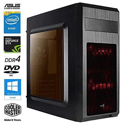 SNOGARD Gaming-PC Desktop-PC Intel Core i5-7500 4x3400Mhz Quad-Core • GeForce GTX1050Ti 4GB • 8GB DDR4 • 1000GB S-ATA HD • Windows 10 • gamer pc computer gaming system