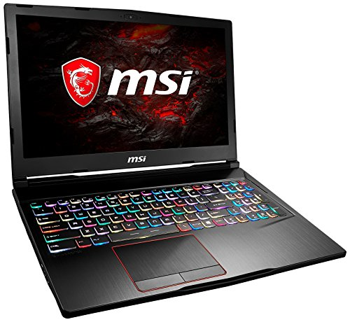 MSI GE63 7RC-004 Raider (39,6 cm/15,6 Zoll/120Hz) Gaming-Notebook (Intel Core i7-7700HQ, 8GB RAM, 1 TB HDD, Nvidia GeForce GTX 1050 mit 4GB, Windows 10 Home) schwarz