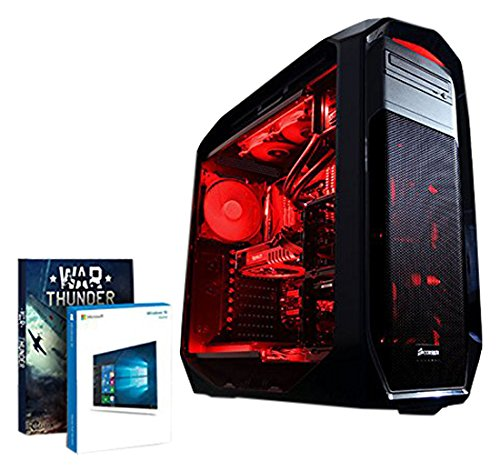 Vibox Limitless 12 Gaming PC - with Warthunder Game Bundle, Windows 10 (3GHz Intel Eight Core Processor, Nvidia Geforce GTX Titan-X Graphics Card, 480GB Solid State Drive, 3TB Hard Drive, 64GB RAM, Corsair 780T (Black/Red) Case