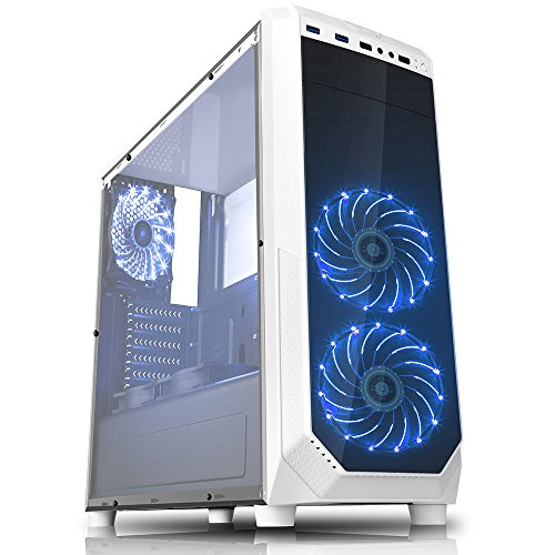 Fierce Apex Gaming PC - Fast 4.2GHz Intel Core i7 7700 Quad Core, NVIDIA GeForce GTX 1080 8GB, 16GB of 2133MHz DDR4 Memory RAM, 1TB SATA3 Hard Drive - High-end Desktop Gaming PC Computer - Great for the Latest Games - 350745