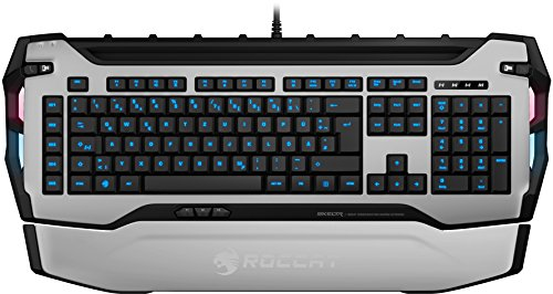 ROCCAT Skeltr Smart Communication RGB Gaming Tastatur (DE Layout, Bluetooth für Mobilgeräte, Docking-Slot) weiß