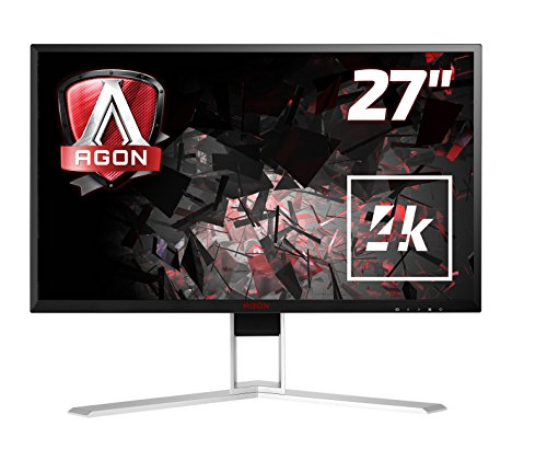 AOC Agon AG271UG 68 cm (27 Zoll) Monitor (HDMI, Displayport, USB 3.0, 3840 x 2160, 60 Hz, 4ms, Nvidia G-Sync) schwarz/rot