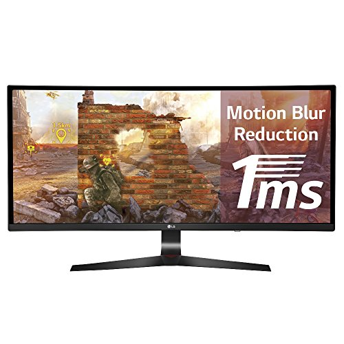 LG 34UC79G-B 86,4 cm (34 Zoll) Curved UltraWide Gaming-Monitor (2x HDMI, DisplayPort, USB 3.0, inklusive USB Quick Charge für Port 1, 1x 3.5 mm Klinke Kanäle, 1 ms Reaktionszeit)