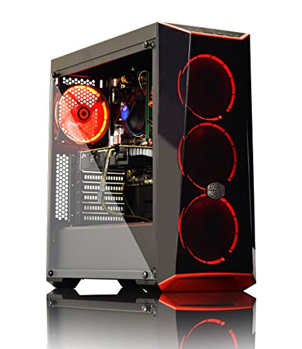 ADMI High Performance Gaming PC with Platinum Warranty: Powerful Intel Core i7 7700 3.6GHz Turbo Quad Core CPU, Nvidia GeForce GTX 1060 6GB VR Ready HDMI Graphics Card, 16GB 2400MHz DDR4 RAM, Seagate 2TB Hard Drive, HDMI Output 1080p, High Speed USB 3.0, 550W Bronze PSU, Cooler Master Masterbox Lite 5 Gaming Case, Pre-Installed with Windows 10