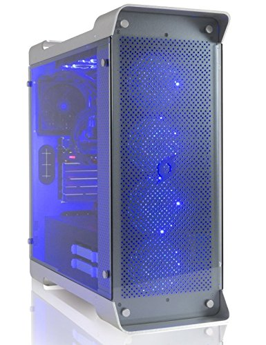 StormForce Tabular SLI Gaming PC - (Silver) (Intel Core i7-7700K Processor, 32 GB RAM, 4 TB HDD Plus 512 GB SSD, 2x NVIDIA GeForce GTX 1080 Graphics Card, Windows 10 Home)