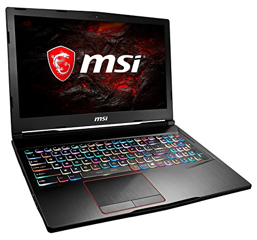 MSI GE63VR 7RE-036DE Raider (39,6 cm/15,6 Zoll/120Hz) Gaming-Notebook (Intel Core i7-7700HQ, 16GB RAM, 256 GB SSD + 1 TB HDD, Nvidia GeForce GTX 1060, Windows 10 Home) schwarz GE63