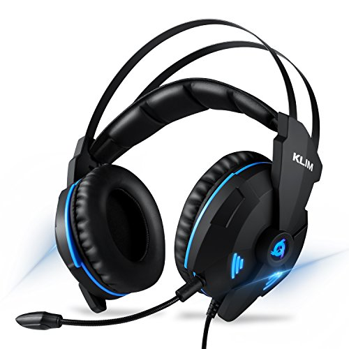 KLIM IMPACT - Gaming Headset und Mikro (USB) - 7.1 Surround-Sound + Isolation - Hochqualitativer Klang + Klangvolle Bässe - Gaming Headset und Mikro für PC PS4 Videospiele