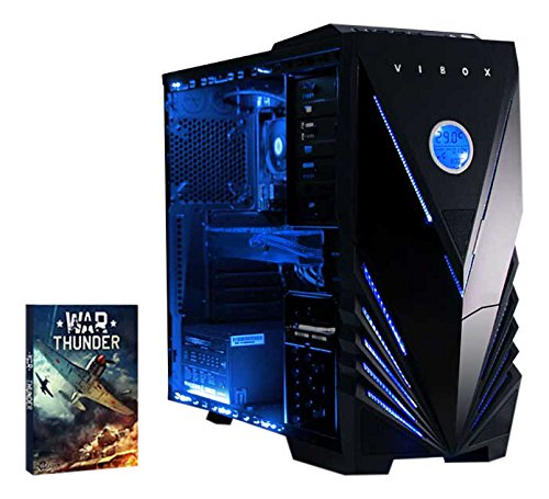 Vibox VBX-PC-00179 Extreme 1 Gaming Desktop-PC (AMD Phenom Quad Core FX-4300, 8GB RAM, 1TB HDD, NVIDIA Geforce GTX 960, kein Betriebssystem) blau