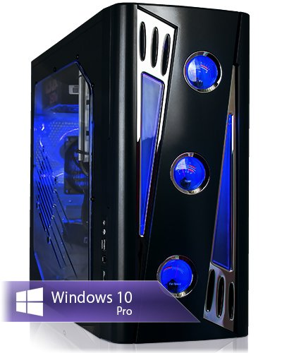 Ankermann-PC Gaming PC mit 24 Monate Garantie, Intel Core i7 7700 4x3,60 KabyLake, GeForce GTX 1060 6GB, 8GB RAM, 240GB SSD, 1TB HDD, Windows 10 Pro, Card Reader, EAN 4260219654746