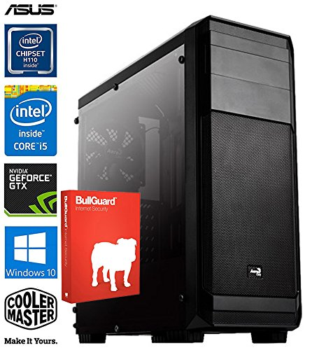 SNOGARD High Power Gaming PC incl. Windows 10 | Intel Core i5-7500 Kaby Lake, 4GB Nvidia Geforce GTX1050 Ti Overclocked, 8GB DDR4 RAM, 1000GB HDD + DVD±RW • Gaming-PC Komplett System | Custom Desktop PC Gamer Computer