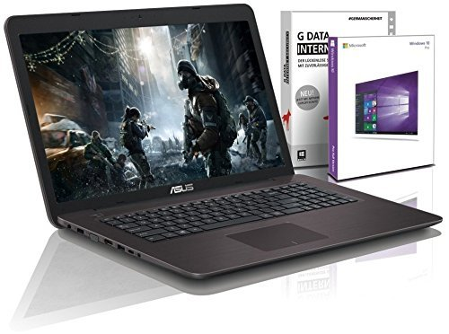 Asus Gaming (17,3 Zoll HD) Notebook (Intel Core i5 6200U, 16GB RAM, 512GB SSD, NVIDIA GeForce 920M 2GB, HDMI, Windows 10) #5221