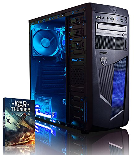 Vibox Vision 2 Gaming PC - with Warthunder Game Bundle (3.7GHz AMD A4 Dual Core Processor, Radeon HD Graphics Chip, 1TB Hard Drive, 8GB RAM, AvP Mamba Blue LED Case, No Operating System)