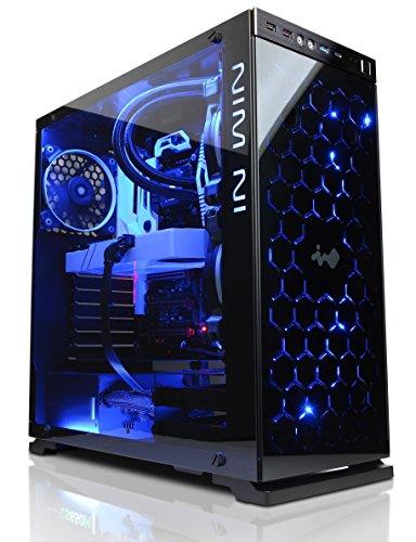 Cyberpower Ultra Luxe 1080Ti Gaming PC - Intel i7 7700K 4.6GHZ OC CPU, Nvidia GTX 1080Ti 11GB GPU, 32GB RAM, 480GB SSD, 2TB HDD, 600W 80 plus PSU, PCI-E Wifi, Liquid Cooling, Windows 10, Inwin 805c