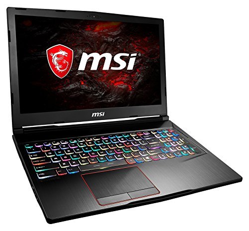 MSI GE63 7RD-006DE Raider (39,6 cm/15,6 Zoll/120Hz) Gaming-Notebook (Intel Core i7-7700HQ, 16GB RAM, 256 GB SSD + 1 TB HDD, Nvidia GeForce GTX 1050Ti, Windows 10 Home) schwarz GE63