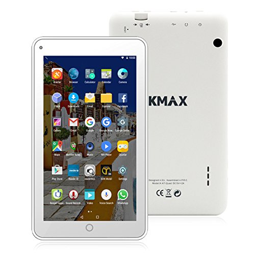 ECVILLA KMAX 19,0cm (7 Zoll) Tablet-Pc (Quad Core, 16GB eMMC, Android 6.0 Lollipop, Wi-Fi ) weiß