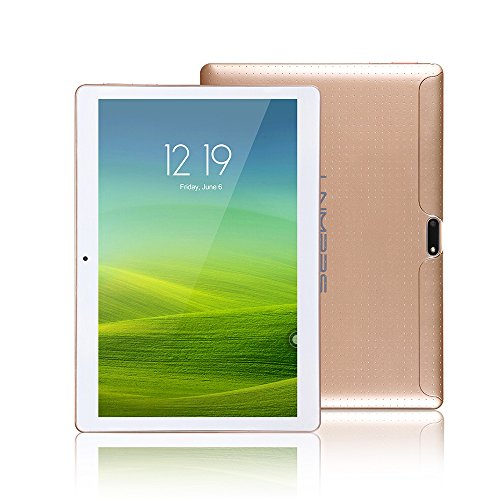 Lnmbbs 25.7 cm(10.1'') 3G Tablet PC 10 zoll Tablet PC Quad Core Processor, 2GB RAM, 16GB ROM, 3G Android 5.1 Lollipop Tablet, WI-FI, Dual Camera, Dual Sim Card, Bluetooth 4.0, GPS, 1280* 800IPS (Gold)