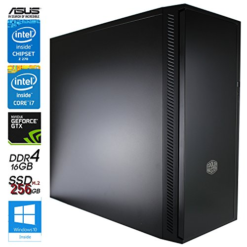SNOGARD Gaming Pc Multimedia VR Ready, Intel Core i7-7700K 4x4.20GHz, 11GB nVidia GeForce GTX 1080Ti, 16GB RAM DDR4 PC2400, 256 GB SSD M2, Microsoft Windows 10 Professional, Heatpipe-Kühler