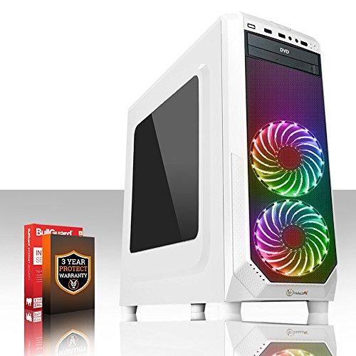Fierce PROTO RGB Gaming PC - Schnell 2 x 3.9GHz Dual-Core Intel Core i3 7100, 1TB Festplatte, 8GB von 2133MHz DDR4 RAM / Speicher, NVIDIA GeForce GTX 1050 2GB, Gigabyte H110M-S2H Hauptplatine, GameMax Prism White RGB Fans, HDMI, USB3, Wi - Fi, Perfekter Einstieg in PC-Spiele, Windows nicht Enthalten, 3 Jahre Garantie 438533