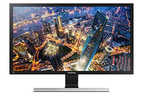 Samsung U28E590D 71,12 cm (28 Zoll) Monitor (HDMI, 1ms Reaktionszeit, 60 Hz Aktualisierungsrate, 3840 x 2160 Pixel) Schwarz/Silber