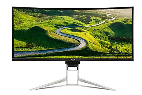 Acer Predator XR342CK 86 cm (34 Zoll) Curved eSports Monitor (HDMI 2.0, USB 3.0, DisplayPort, miniDisplayPort, 4ms Reaktionszeit, Auflösung 3,440 x 1,440, Adaptive Sync, EEK B Schwenkbar, Höhenverstellbar) silber/schwarz