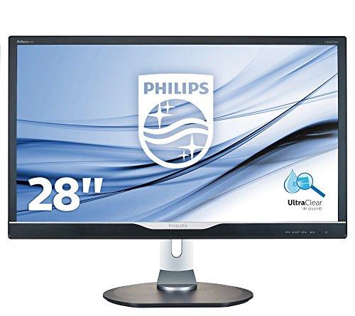 Philips 288P6ljEB/00 71 cm (28 Zoll) Monitor (VGA, DVI, HDMI, DisplayPort, USB-Hub, 1ms Reaktionszeit, 3840 x 2160, 60 Hz, Pivot, 4K) schwarz