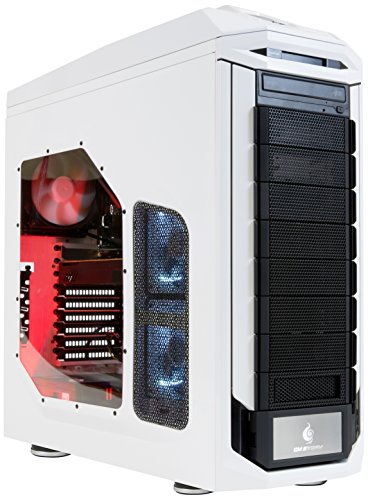 StormForce Stryker Gaming Desktop PC (White) - (Intel Core i7-6700K 4.4 GHz, 32 GB RAM, 4 TB HDD, NVIDIA GeForce GTX 1080 Dedicated Graphics, DVD/RW, Wi-Fi, Windows 10)