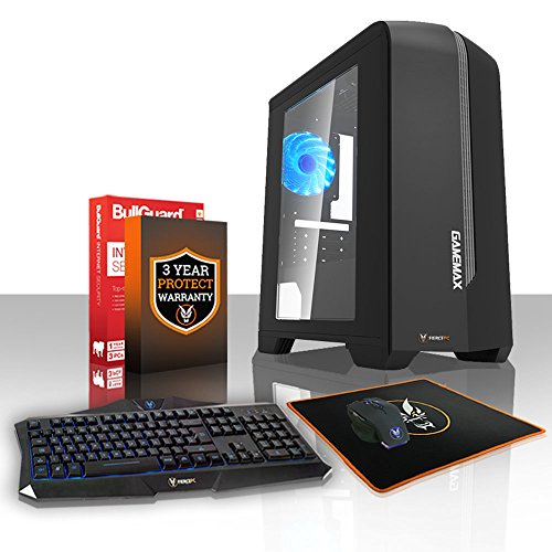 Fierce EXILE RGB Gaming PC Desktop Computer Bundle - Fast 3.8GHz Quad-Core AMD A-Series 7650K, 1TB Hard Drive, 16GB of 1600MHz DDR3 RAM / Memory, AMD Radeon R7 Integrated Graphics, Gigabyte F2A78M-HD2 Motherboard, CiT G Force RGB Case, HDMI, USB3, Wi - Fi, Perfect entry into PC Gaming, Operating System not included, Keyboard and Mouse, 3 Year Warranty 408869