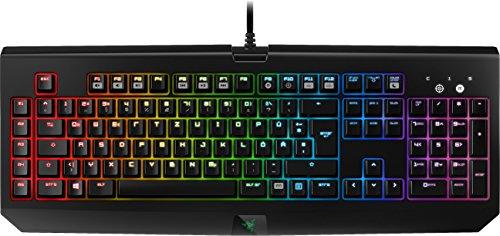 Razer BlackWidow Chroma Mechanische Gaming Tastatur (RGB Beleuchtet und voll programmbierbar mit 5 Macrotasten, DE-Layout)