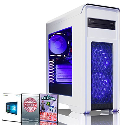 ADMI Falcon-88 GAMING PC: Intel Core i5 7400 3.5Ghz Quad Core CPU, NVIDIA GTX 1060 6GB Graphics Card, 16GB 1600MHz DDR3 RAM, 1TB Hard Drive, Game Max White Gaming Case, Windows 10