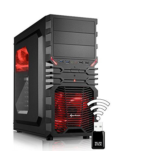 AGANDO Silent Gaming PC | Intel Core i5 7400 4x 3.0GHz | Turbo 3.5GHz | GeForce GTX1050 2GB | 4GB RAM | 1000GB HDD | DVD-RW | USB3.1 | WLAN | 36 Monate Garantie | Computer für Multimedia, Gaming, Büro/Office