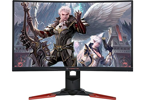 Acer Predator Z271 69 cm (27 Zoll) Curved Monitor (HDMI, USB 3.0, 4ms Reaktionszeit, Höhenverstellbar, Nvidia G-Sync, EEK B) schwarz/rot