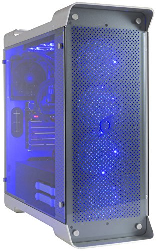StormForce Tabular Gaming PC - (Silver) (Intel Core i7-7700K Processor, 32 GB RAM, 4 TB HDD Plus 512 GB SSD, NVIDIA GeForce GTX 1080 Graphics Card, Windows 10 Home)