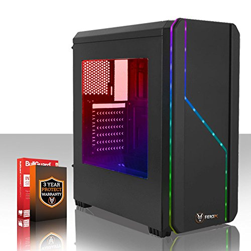 Fierce VULTURIS 8 RGB Gaming PC Desktop Computer - Fast 4.4GHz Quad-Core AMD Athlon X4 880K, 1TB Hard Drive, 8GB of 1600MHz DDR3 RAM / Memory, NVIDIA GeForce GTX 1060 3GB, Gigabyte F2A78M-HD2 Motherboard, RGB Case, HDMI, USB3, Wi - Fi, VR Ready, Perfect for Competitive Gaming, Operating System not included, 3 Year Warranty 224954