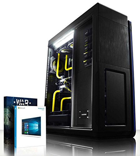 VIBOX Prometheus HyperFreeze 15 - Ultimate, Extreme, Super Elite Gaming PC, High Performance, Windows 10 Desktop Computer (Intel i7 Extreme 5960X @ 4.5GHz 8-Core Processor, Custom Dual Watercooling Loop, 2 x 6GB Nvidia Geforce GTX 980 Ti (SLI) Graphics Cards, X99S SLI Plus, 1TB Samsung EVO 850 SSD Solid State Drive, 2TB Hard Drive, 64GB Patriot Viper Xtreme 2800MHz DDR4 RAM Memory, RM1000 PSU, Phanteks Primo Case)