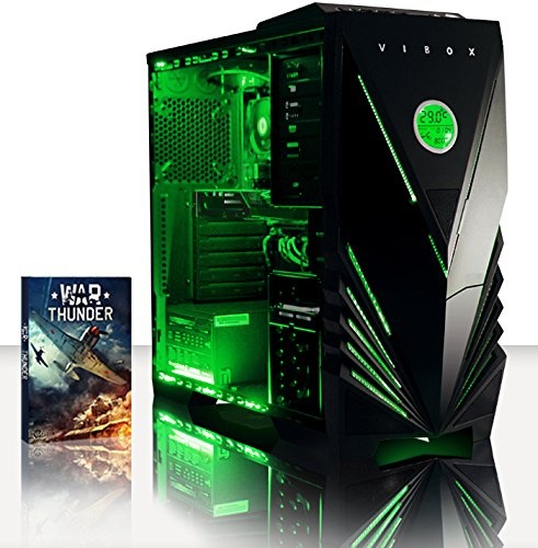 Vibox VBX-PC-2071 Scope 37 Gaming Desktop-PC (AMD A Series A4-7300, 4GB RAM, 500GB HDD, NVIDIA Geforce GT 730, kein Betriebssystem) grün