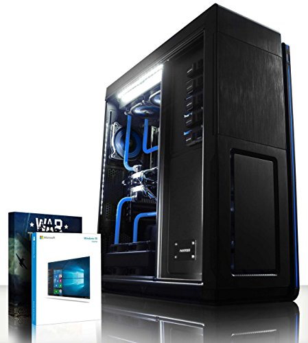 VIBOX Hyperion HyperFreeze 36 - Ultimate, Extreme, Super Elite Gaming PC, High Performance, Windows 10 Desktop Computer (Intel i7 Extreme 5960X @ 4.5GHz 8-Core Processor, Custom Dual Watercooling Loop, 2 x 12GB Nvidia Geforce GTX Titan X (SLI) Graphics Cards, X99S SLI Plus, 1TB Samsung EVO 850 SSD Solid State Drive, 3TB Hard Drive, 64GB Patriot Viper Xtreme 2800MHz DDR4 RAM Memory, RM1000 PSU, Phanteks Primo Case)