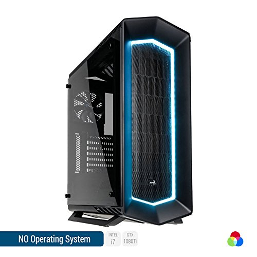 Sedatech Ultimate Gaming PC Intel i7-7700K 4x 4.20GHz (max 4.5Ghz), Geforce GTX 1080Ti 11Gb, 32 GB RAM DDR4 3000Mhz, 1 TB SSD, 3 TB HDD, USB 3.1, Wlan, Kartenleser, HDMI2.0, 4K Grafik Aulösung, DirectX 12, VR Ready, 80+ Netzteil. Rechner ohne OS