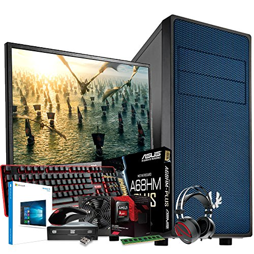 Computer Technology & ASUS Gaming System - AMD FM2 6300 3.7GHz CPU - Asus GTX1060 3GB Graphics Card - 8GB DDR3 1600Mhz Memory - 1TB 1000GB Hard Drive Disk HDD - ASUS A68HM-Plus Motherboard - Built into a BitFenix Neos Blue Case & Kolink 80+ Certified PSU - Complete with 24