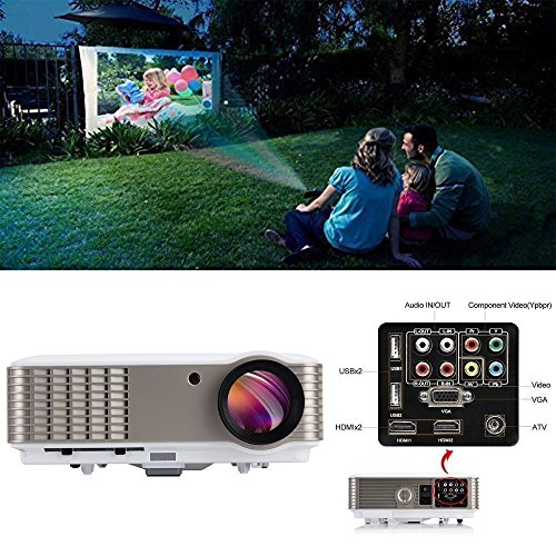 3600 Lumen Projektor HDMI Heimkino Kino-System LED 1080p HD Smart Beamer für Film Video Spiele Gaming TV Home Entertainment Party 5.8