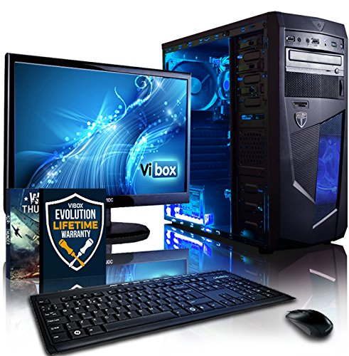 Vibox Centre Package 10 Gaming PC - with Warthunder Game Bundle, 21.5