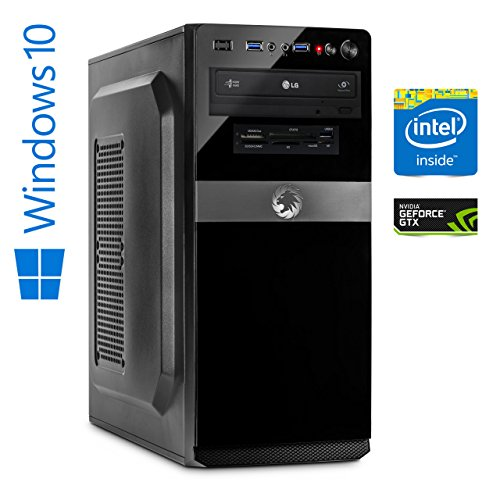 Memory PC Gamer Intel Core i7-8700 8. Generation (SixCore) Coffee Lake 6x 3.2 GHz, ASUS Z370-P, 16 GB DDR4 2133, 256 GB SSD+1000 GB Festplatte Sata3, NVIDIA GeForce GTX 1050 2GB 4K, USB 3.0, SATA3, HDMI, DVD-Brenner, Sound, GigabitLan, Windows 10 Pro 64bit, MultimediaPC, High End Gaming, Cardreader, Coffeelake