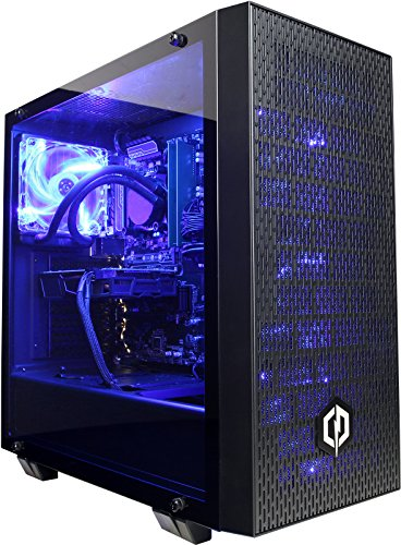 Cyberpower Conqueror 1080 Gaming PC - AMD Ryzen 7 2700X, Nvidia GTX 1080 8GB, 16GB 2400MHz RAM, B350 Chipset MB, 240GB SSD, 2TB HDD, 600W 80+ PSU, Liquid Cooler, PCI-E Wifi, Win 10, Ttake G21