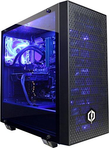 Cyberpower Conqueror 1080 Gaming PC - AMD Ryzen 7 2700X, Nvidia GTX 1080 8GB, 16GB 2400MHz RAM, B350 Chipset MB, 240GB SSD, 2TB HDD, 600W 80+ PSU, Liquid Cooler, PCI-E Wifi, Win 10, Ttake G21