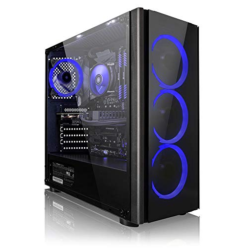 Megaport High End Gaming PC AMD Ryzen 7 2700X 8 x 4.30 Turbo • Nvidia GeForce RTX 2060 Super 8GB • 240GB SSD • 16GB DDR4 • Windows 10 • WLAN Gamer pc Computer Gaming Computer
