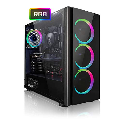 Megaport Gaming PC Intel Core i7-9700 8X 4.7 GHz Turbo • Nvidia GeForce GTX1050 Ti 4GB • 480GB SSD • 16GB DDR4 RAM • Windows 10 • WLAN Gamer pc Computer Gaming Computer rechner