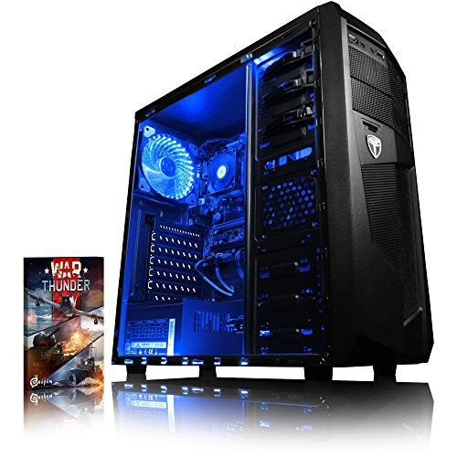 VIBOX Ultra 11 Gaming PC Computer mit War Thunder Spiel Bundle (3,4GHz AMD A8 Quad-Core Prozessor, Radeon R7 Grafik Chip, 8Go DDR4 2133MHz RAM, 1TB HDD, Ohne Betriebssystem)